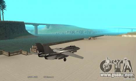 F14W Super Weirdest Tomcat Skin 1 for GTA San Andreas back left view