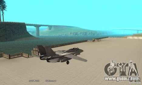 F14W Super Weirdest Tomcat Skin 1 for GTA San Andreas back left view