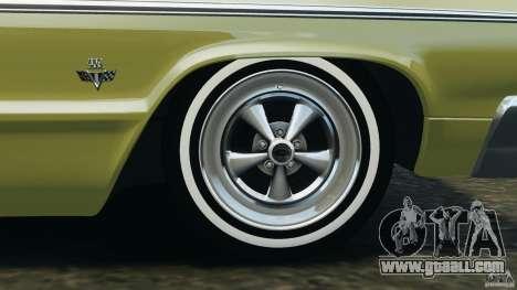 Chevrolet Impala SS 1964 for GTA 4 interior