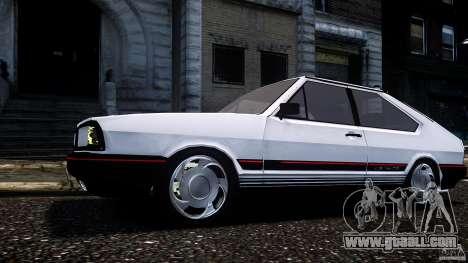Volkswagen Passat Pointer GTS 1988 Turbo for GTA 4 back left view