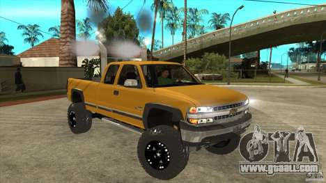 Chevrolet Silverado 2500 Lifted for GTA San Andreas back view
