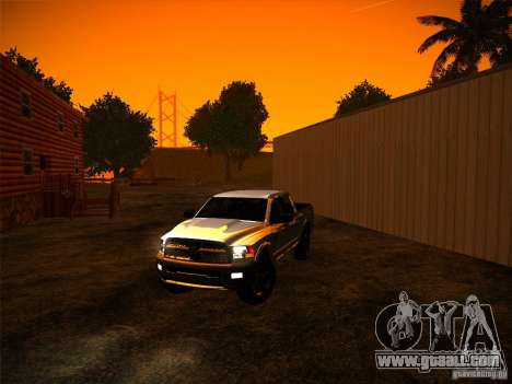 Dodge Ram Heavy Duty 2500 for GTA San Andreas right view