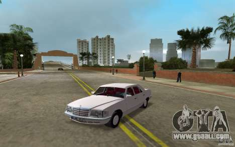 Mercedes-Benz W126 500SE for GTA Vice City back left view
