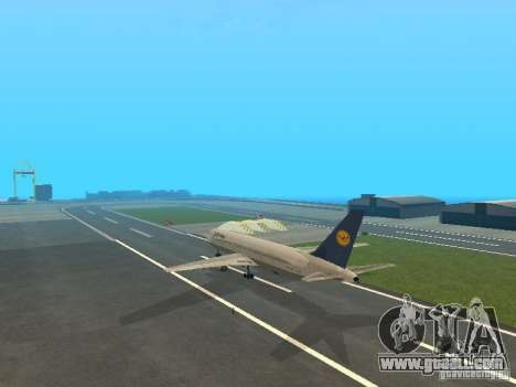 Boeing 767-300 Lufthansa for GTA San Andreas right view