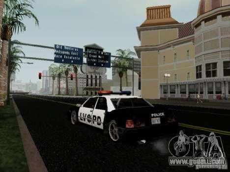 Sunrise Police LV for GTA San Andreas back left view
