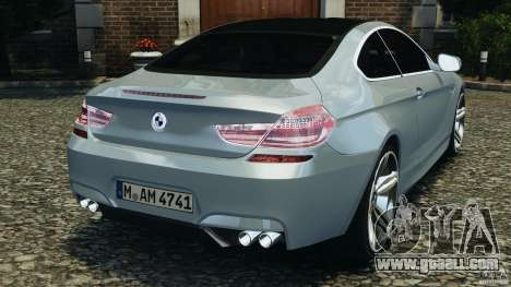 BMW M6 Coupe F12 2013 v1.0 for GTA 4 back left view