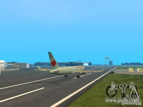 Boeing 767-300 Air Canada for GTA San Andreas inner view