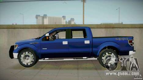 Ford Lobo Lariat Ecoboost 2013 for GTA San Andreas left view