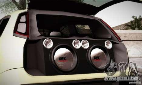 Fiat Punto Evo 2010 Edit for GTA San Andreas upper view
