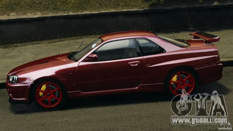 Nissan Skyline GT-R R34 2002 v1.0 for GTA 4 left view