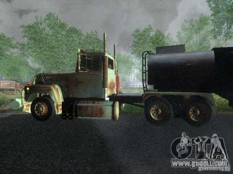 Armored Mack Titan Fuel Truck for GTA San Andreas left view
