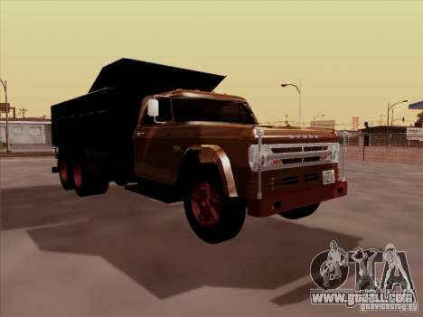 Dodge Dumper for GTA San Andreas left view