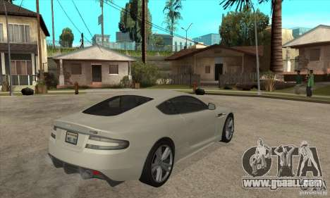 Aston Martin DBS for GTA San Andreas right view