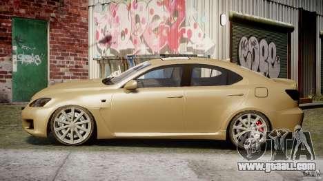 Lexus IS F for GTA 4 left view