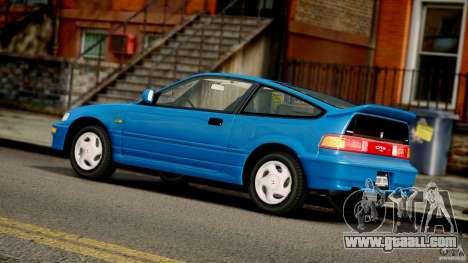 Honda CR-X SiR 1991 for GTA 4 inner view