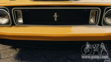 Ford Mustang Mach 1 1973 for GTA 4 bottom view