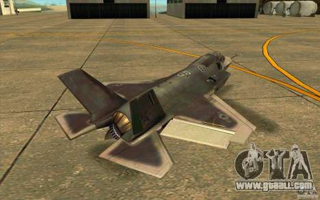 Lockheed F-35 Lightning II for GTA San Andreas back left view
