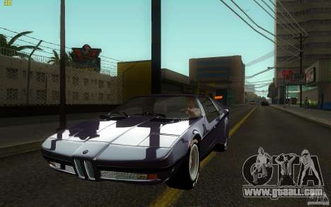 BMW Turbo 1972 for GTA San Andreas back view