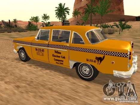 Checker Marathon Yellow CAB for GTA San Andreas left view