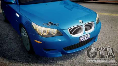 BMW M5 E60 2009 for GTA 4 wheels
