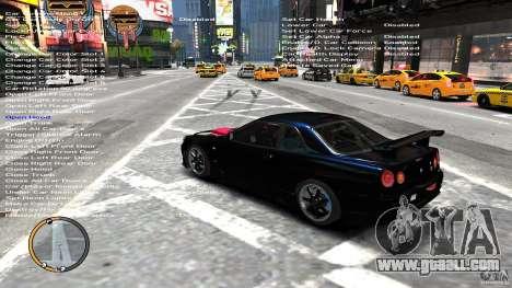 Nissan SkyLine R34 GT-R V-spec II for GTA 4 back left view