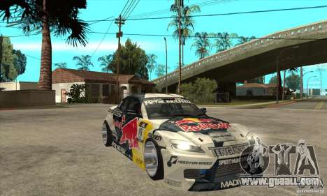 Mazda RX8 NFS Team Mad Mike for GTA San Andreas back view