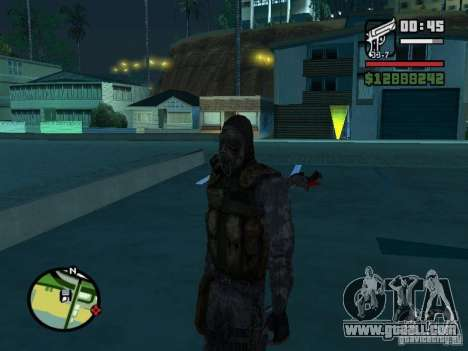 Stalker mercenary in the new kombeze for GTA San Andreas second screenshot