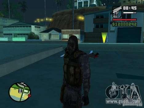 Stalker mercenary in the new kombeze for GTA San Andreas second screenshot