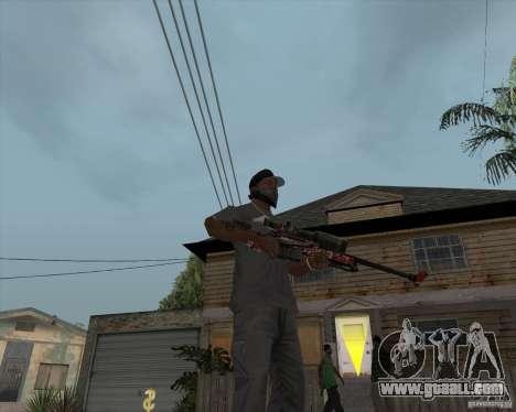 Accuracy International L96A1 for GTA San Andreas second screenshot