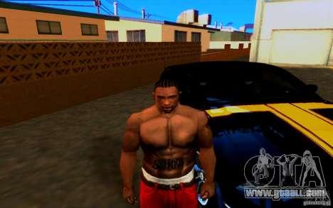 Slipknot tatoo for GTA San Andreas second screenshot