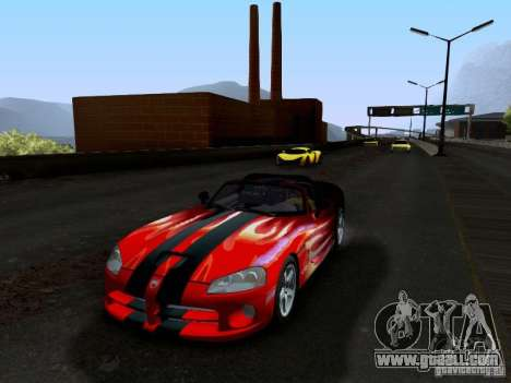 Dodge Viper SRT-10 Custom for GTA San Andreas bottom view
