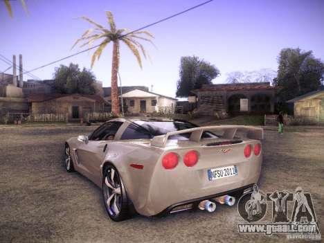 Chevrolet Corvette C6 Z06 Tuning for GTA San Andreas back left view