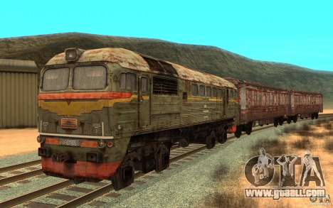 A train of the game s.t.a.l.k.e.r. for GTA San Andreas