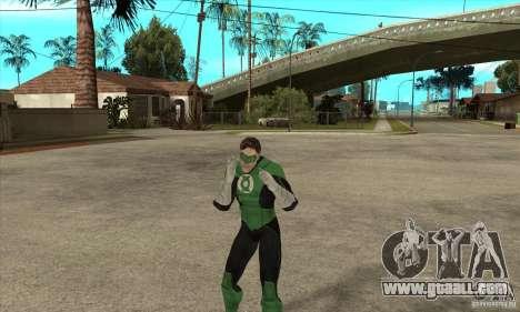 Green Lantern for GTA San Andreas fifth screenshot