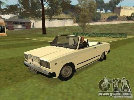 Vaz 2107 convertible for GTA San Andreas