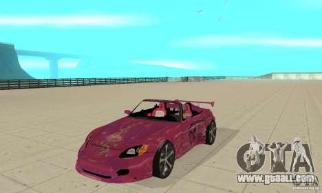 Honda S2000 The Fast and Furious for GTA San Andreas left view