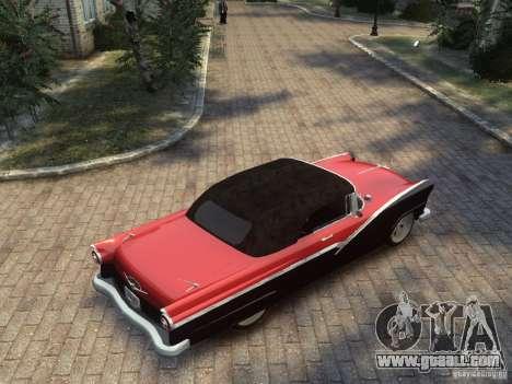 Ford Sunliner Custom 1956 for GTA 4 back view