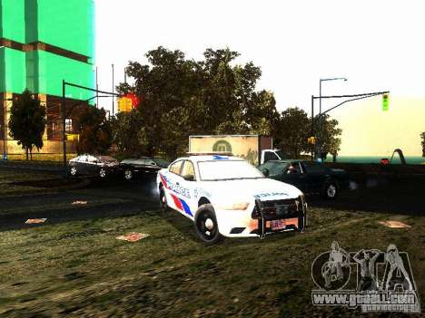 Dodge Charger 2011 Toronto Police for GTA San Andreas back view
