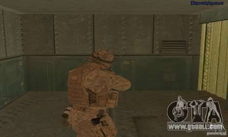 Skin Marine for GTA San Andreas third screenshot