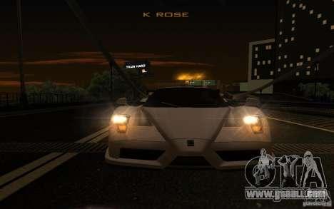 Ferrari Enzo ImVehFt for GTA San Andreas side view