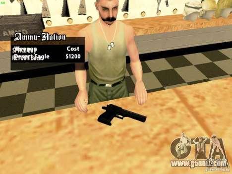 Desert Eagle MW3 for GTA San Andreas second screenshot
