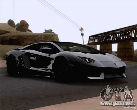 Lamborghini Aventador LP700-4 2011 for GTA San Andreas side view