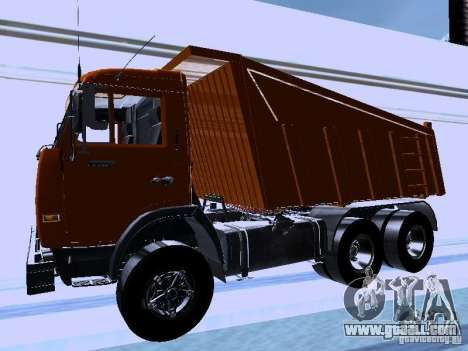 KAMAZ 54115 Truck for GTA San Andreas left view
