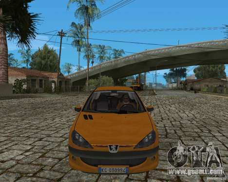 Peugeot 306 for GTA San Andreas back left view