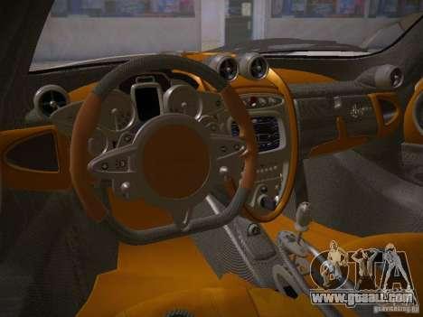 Pagani Huayra for GTA San Andreas right view
