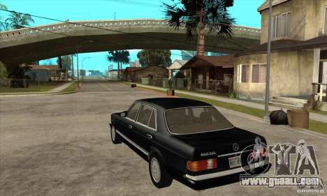 Mercedes Benz W126 560 v1.1 for GTA San Andreas back left view