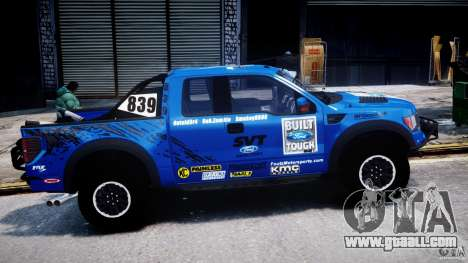 Ford F150 Racing Raptor XT 2011 for GTA 4 inner view