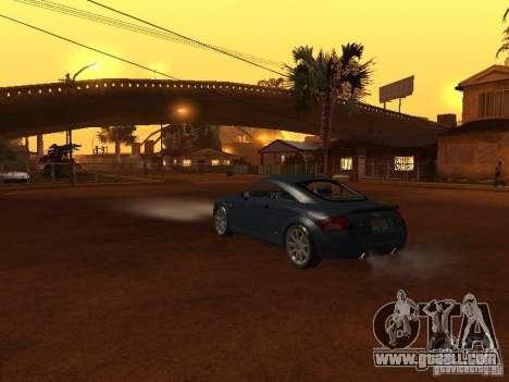 Audi TT 3.2 Quattro for GTA San Andreas inner view
