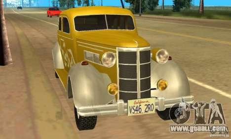 Ford DeLuxe Fordor Sedan V8 1938 for GTA San Andreas left view