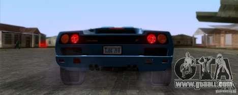 Lamborghini Diablo SV V1.0 for GTA San Andreas back view